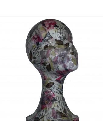 Soporte mujer flores artesanía